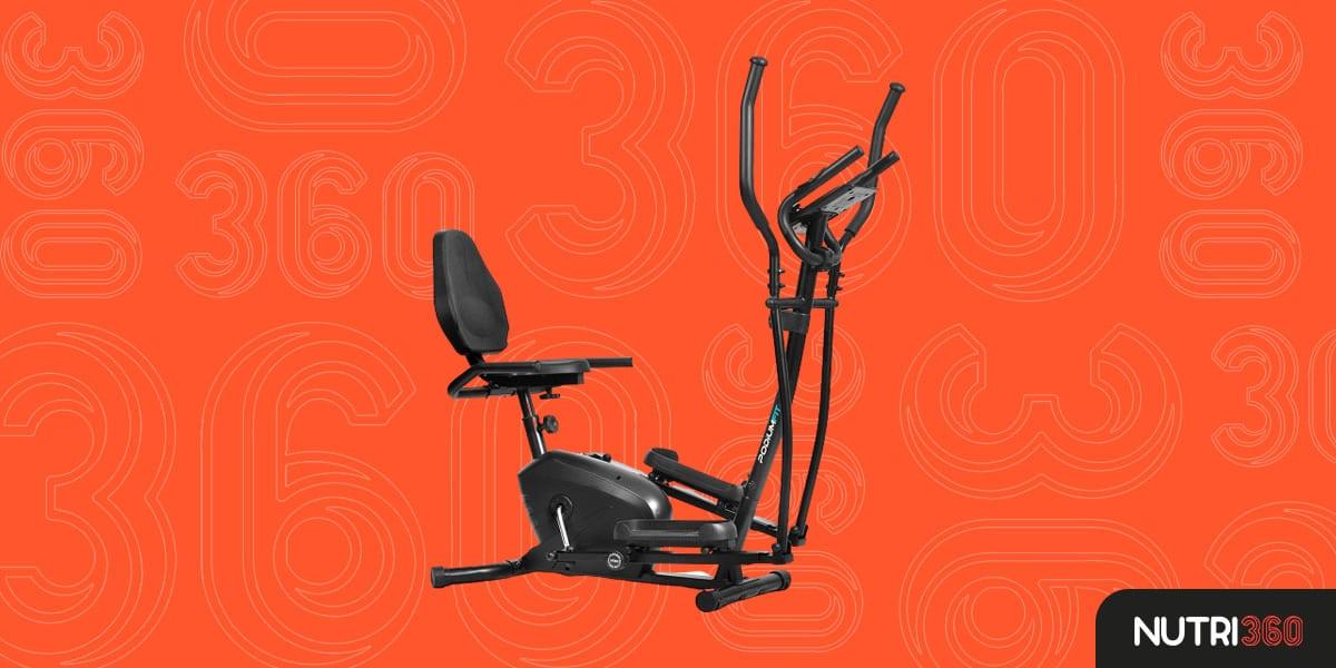 Elíptico e Bicicleta Ergométrica PodiumFit EH100