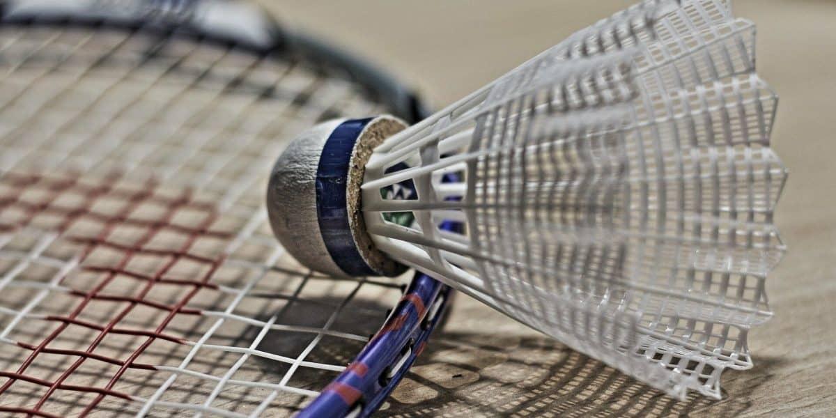 Foto de uma das Melhores Raquetes para jogar Badminton e um peteca