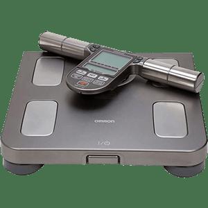 'Balança Digital Omron HBF514C - Medição Precisa e Completa de Peso, Corporal e Fitness, 7 Indicadores Corporais, Memória P/ 4 Perfis,Garantia de 1 Ano'
