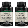 Ferro, Ácido Fólico e Vitamina B12 Bioklein 60 cápsulas